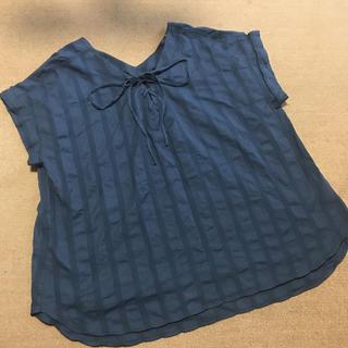 ジーユー(GU)の新品未使用 大きいサイズ ブラウス(シャツ/ブラウス(半袖/袖なし))