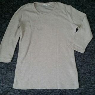 ユニクロ(UNIQLO)のUNIQLO◆七分丈トップス(Tシャツ/カットソー(七分/長袖))