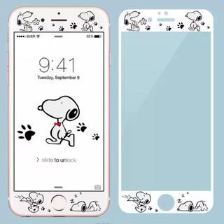 スヌーピー(SNOOPY)のスヌーピー iPhone 強化ガラスフィルム(保護フィルム)