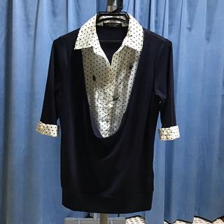 アフリカタロウ(AFRICATARO)のレディース 重ね着風シャツ(Tシャツ(半袖/袖なし))
