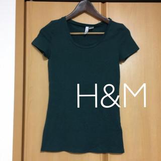 エイチアンドエム(H&M)のTシャツ  モスグリーン(Tシャツ(半袖/袖なし))