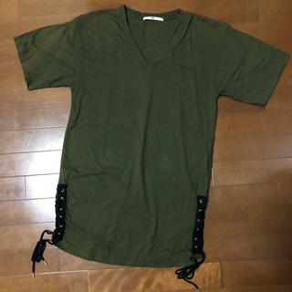 スライ(SLY)のSLY▼ビッグシルエットレースアップTシャツ(Tシャツ(半袖/袖なし))