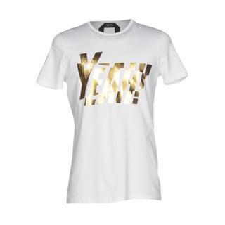 ヌメロヴェントゥーノ(N°21)のN°21 ゴールドホワイトTシャツ(Tシャツ/カットソー(半袖/袖なし))