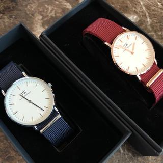 ダニエルウェリントン(Daniel Wellington)のダニエルウェリントン DW 時計 ペア ウォッチ ナイロン 記念(腕時計(アナログ))