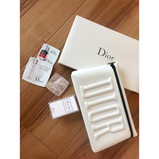 クリスチャンディオール(Christian Dior)のDior クラッチバッグ 白 サンプル4点セット 新品未使用 CHANEL(美容液)