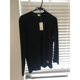 サンスペル(SUNSPEL)のsunspel サンスペル 長袖 カットソー 黒 Mサイズ(Tシャツ/カットソー(七分/長袖))