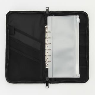 ムジルシリョウヒン(MUJI (無印良品))の無印 パスポートケース 家計簿 黒 ブラック リフィール クリアポケット(ポーチ)