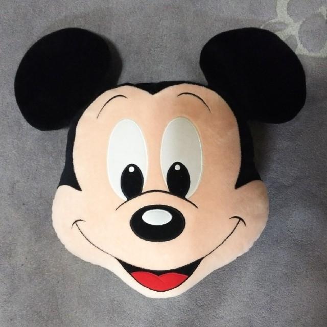 【ミッキーマウス】顔型クッション