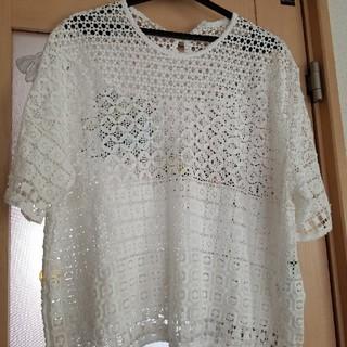 アズノゥアズオオラカ(AS KNOW AS olaca)の15号 大きいサイズコットンレースTシャツ(Tシャツ(半袖/袖なし))
