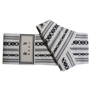 新品送料込み 男性用ワンタッチ角帯 浴衣帯 着物 メンズ 白 K140(帯)