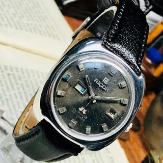 リコー(RICOH)の80's Vint. リコー 自動巻メンズウォッチ OH済 オリーブグリーン(腕時計(アナログ))