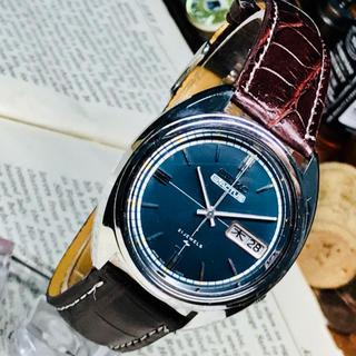 セイコー(SEIKO)の70's Vint. セイコー5 アクタス 自動巻 OH済 ブルーグレーダイヤル(腕時計(アナログ))