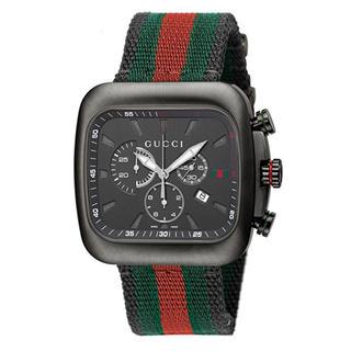 グッチ(Gucci)のGUCCI 腕時計 グッチクーペ ブラック文字盤 定価159800 クロノグラフ(腕時計(アナログ))