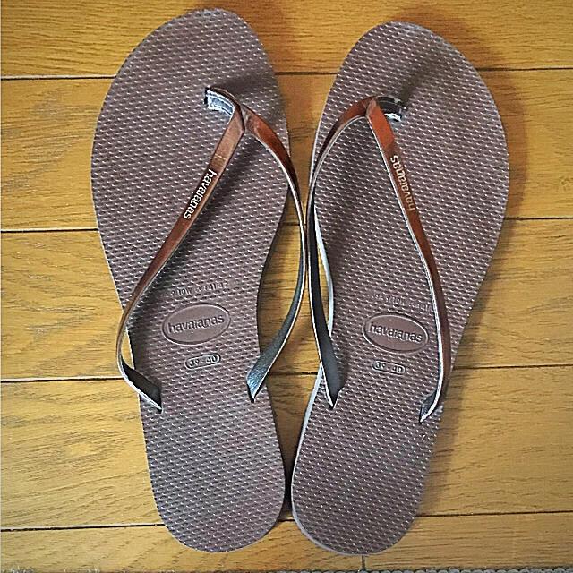 havaianas(ハワイアナス)のHavaianas スリム ユー メタリック ビーチサンダル レディースの靴/シューズ(ビーチサンダル)の商品写真
