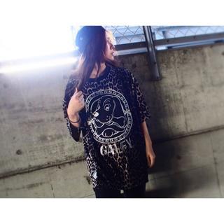 ガルフィー(GALFY)のガルフィー ロゴ刺繍 レオパード 半袖Tシャツ(Tシャツ/カットソー(半袖/袖なし))