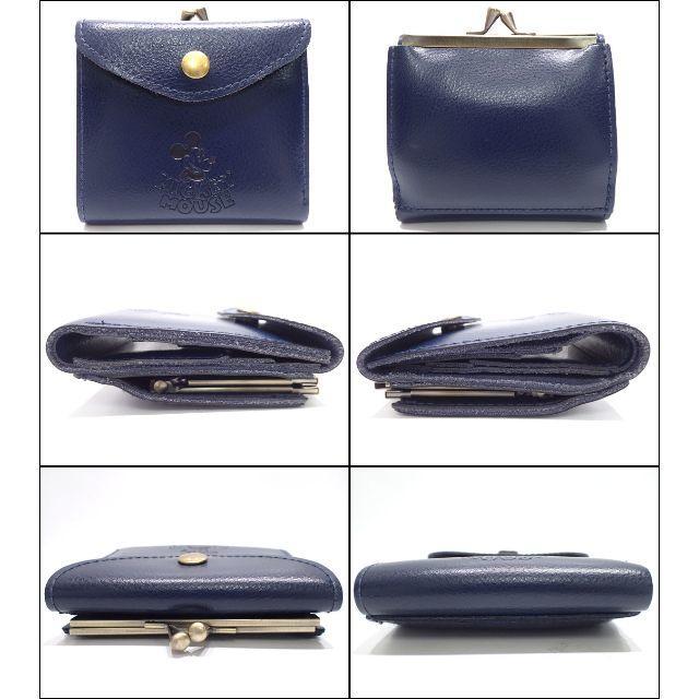 Disney(ディズニー)のA644 美品 ディズニー ミッキー レザー お二つ折り財布 がま口 レディースのファッション小物(財布)の商品写真