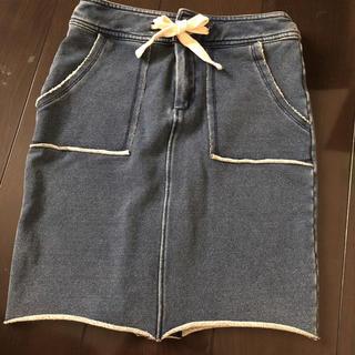 アングリッド(Ungrid)のungrid スウェットタイトスカート(ひざ丈スカート)