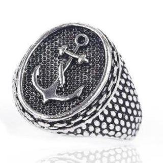 イカリ アンカー 指輪 リング メンズ レディース シルバー アクセ(リング(指輪))