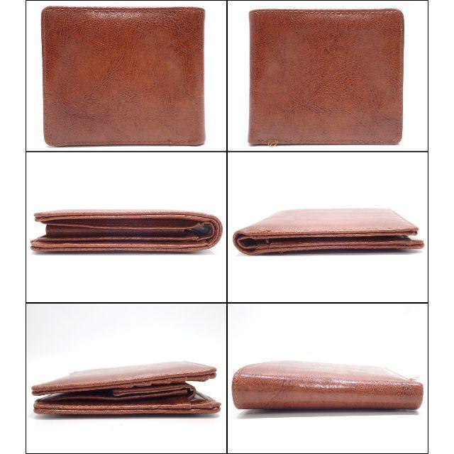 A640 美品 ロッサビアンコ レザー 二つ折り財布 ブラウン メンズのファッション小物(折り財布)の商品写真