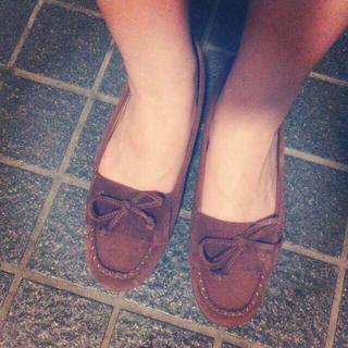 シンプルブラウンモカシン(ローファー/革靴)