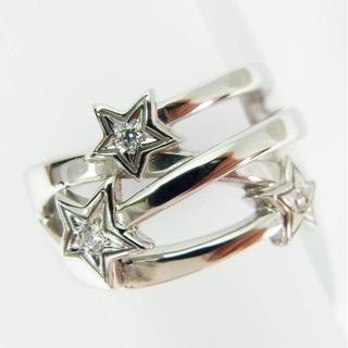 スタージュエリー(STAR JEWELRY)のスタージュエリー K18WG ダイヤモンド ピンキーリング4号 [f185-5](リング(指輪))