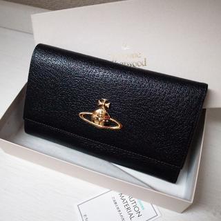 ヴィヴィアンウエストウッド(Vivienne Westwood)の正規品♡美品♡ヴィヴィアン 長財布 黒 レザー 土星 バッグ 財布 小物(財布)