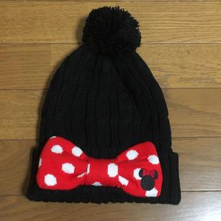 ディズニー(Disney)のミニーマウスのニット帽(ニット帽/ビーニー)