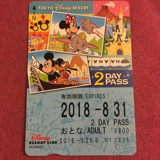 ディズニー(Disney)の【値下げ】ディズニーリゾートライン 2daypass(鉄道乗車券)
