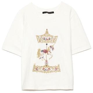 リリーブラウン(Lily Brown)の完売品❤️ [L.B CANDY STOCK] メリーゴーランドビジューTシャツ(Tシャツ(半袖/袖なし))