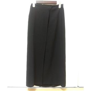 ジルサンダー(Jil Sander)のジル・サンダー 黒ロング巻きスカート Mサイズ(ロングスカート)