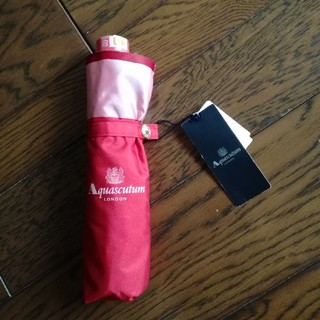 アクアスキュータム(AQUA SCUTUM)の新品アクアスキュータムLondon UVカット晴雨兼用 折り畳み傘(傘)