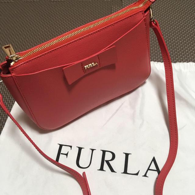 e4bd17bbc440 Furla(フルラ)のFURLA フルラ ショルダーバッグ レッド リボン ポシェット 赤 ピンク レディースの