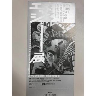 カスタード様専用 ミラクルエッシャー展 1枚 上野の森美術館 7月29日まで(美術館/博物館)