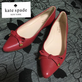 ケイトスペードニューヨーク(kate spade new york)のkate spade new york Emma ローヒールリボンパンプス(スリッポン/モカシン)