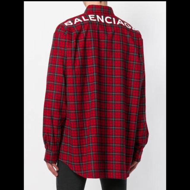get cheap 7980c 8770e BALENCIAGA 18SS チェックシャツ バレンシアガ | フリマアプリ ラクマ