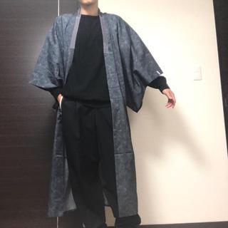 コムデギャルソン(COMME des GARCONS)のまだら模様 日本風景柄 メンズ 着物 羽織り 長襦袢 半纏 ロングコート 渋い(着物)