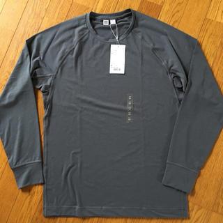 ユニクロ(UNIQLO)のユニクロ 長袖 ドライ ストレッチ Tシャツ 新品 カットソー(Tシャツ/カットソー(七分/長袖))