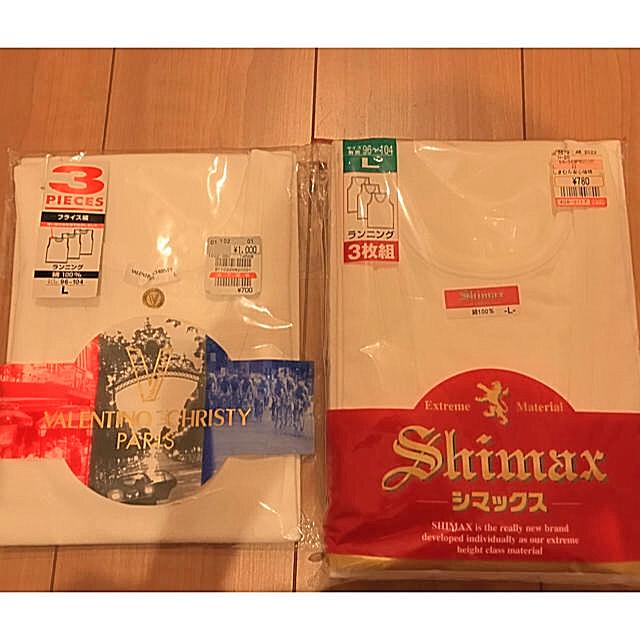 しまむら(シマムラ)の【新品】ランニング Lサイズ 4枚組 メンズのアンダーウェア(その他)の商品写真