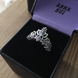 アナスイ(ANNA SUI)のANNA SUI リング バタフライ王冠リング ピンキーリング 1号(リング(指輪))