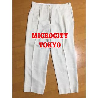 MICROCITY MEN ミクロシティ ズボン メンズ 90 スーツパンツ(スラックス/スーツパンツ)