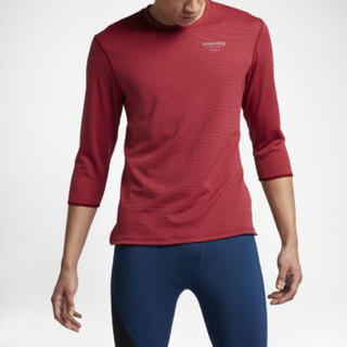 アンダーカバー(UNDERCOVER)の赤S GYAKUSOU エアロリアクト 3/4 Tシャツ 逆走 NIKE LAB(ウェア)