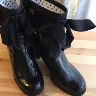レインブーツ リボン付き M(レインブーツ/長靴)