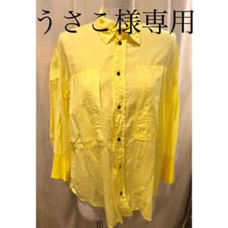 カミシマチナミ(KAMISHIMA CHINAMI)のkamishima chinami yellow ブラウス(シャツ/ブラウス(長袖/七分))