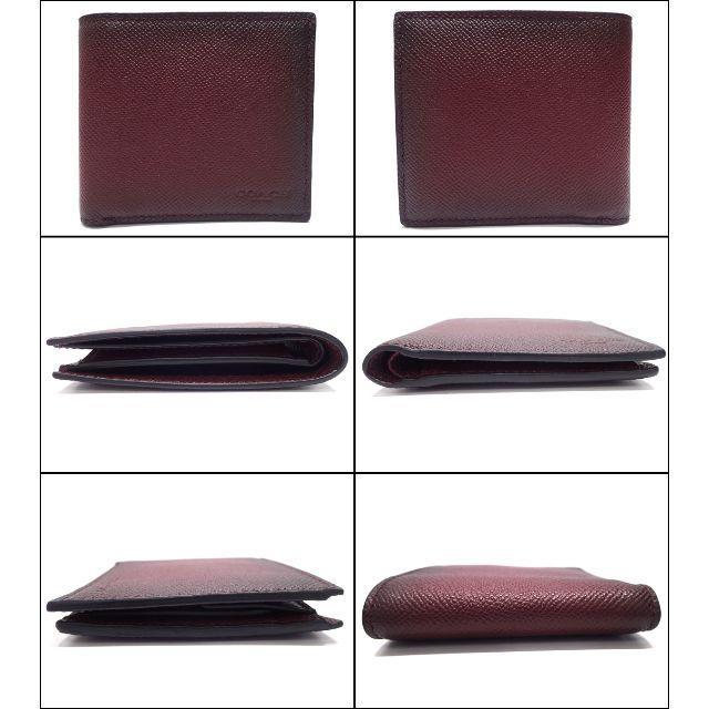 A641 美品 コーチ カーフレザー 二つ折り財布 G1680 75345 メンズのファッション小物(折り財布)の商品写真