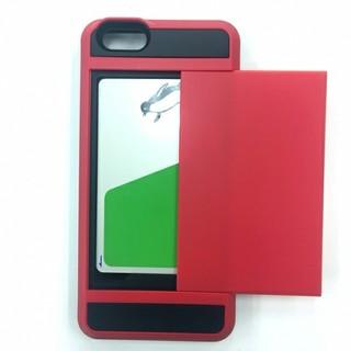 アイフォーン(iPhone)のiPhone6・iPhone6s専用 icカード おサイフ収納ポケット ★2色 (iPhoneケース)