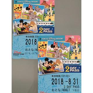 ディズニー(Disney)のディズニーモノレール 2ディパス (鉄道乗車券)