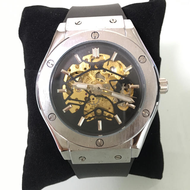 d98f63dd60 HUBLOT好きにオススメ!!腕時計 機械式 高級腕時計 シルバー!の通販 by ...