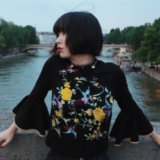 マザー(mother)の完売人気商品 mother Phoenix blouse ブラック(シャツ/ブラウス(長袖/七分))