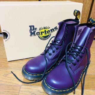 ドクターマーチン(Dr.Martens)のドクターマーチン 8ホール UK4 パープル(ブーツ)