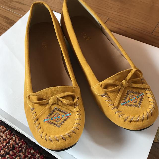 salus(サルース)の未使用 モカシンシューズ salus 24.5センチ レディースの靴/シューズ(スリッポン/モカシン)の商品写真
